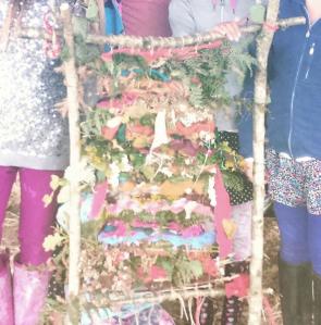girls lodge weaving